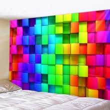 Three-dimensional Square Background Tapestry Livingroom And Bedroom Decoration Sandy Beach Picnic Towel