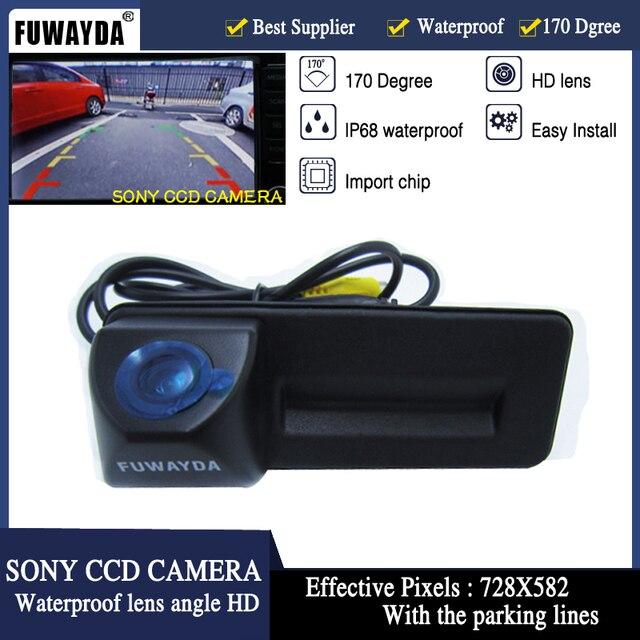 FUWAYDA SONY CCD bagażnika samochodu uchwyt cofania kamera cofania z czujnikiem parkowania dla Skoda Roomster Fabia Octavia Yeti superb dla Audi A1 HD
