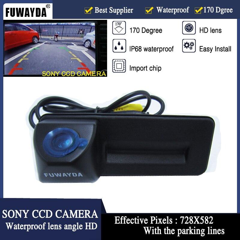 FUWAYDA SONY CCD de voiture tronc poignée inverse parking caméra de recul pour Skoda Roomster Fabia Octavia Yeti superbe pour Audi A1 HD