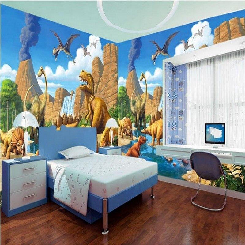 Photo wallpaper custom Anime cartoon Jurassic dinosaur mural bedroom children room high quality wallpaper custom baby wallpaper snow white and the seven dwarfs bedroom for the children s room mural backdrop stereoscopic 3d