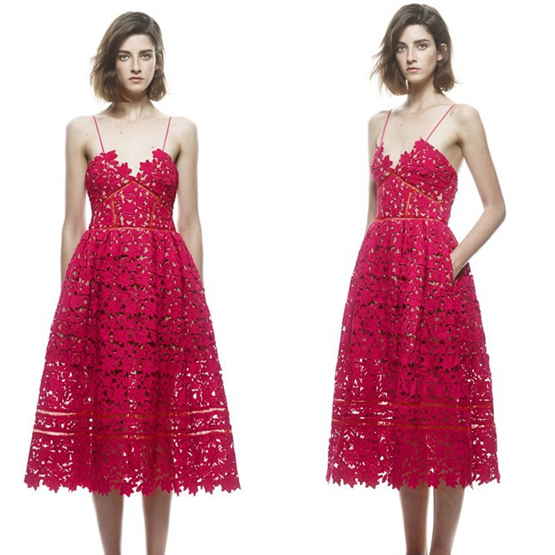 2017summer Inspired High End Designer Suspender Dress