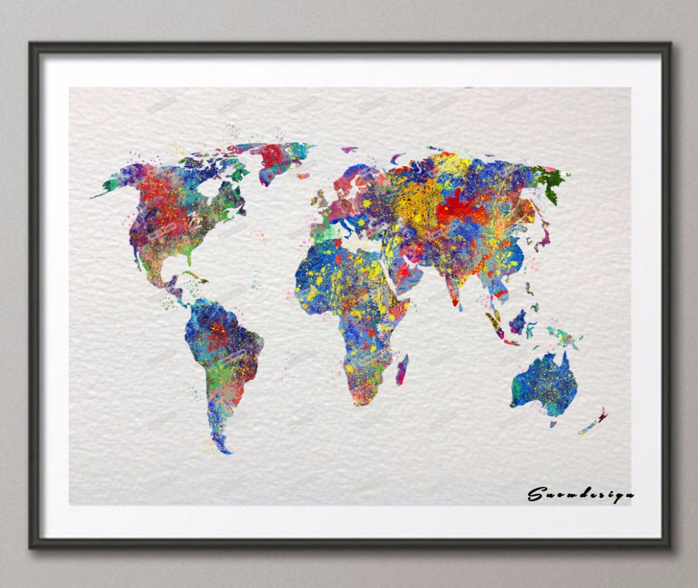Middle earth map wall hangingquiver at the sight of lord of the world map on canvas diy choice image word map images and gumiabroncs Gallery