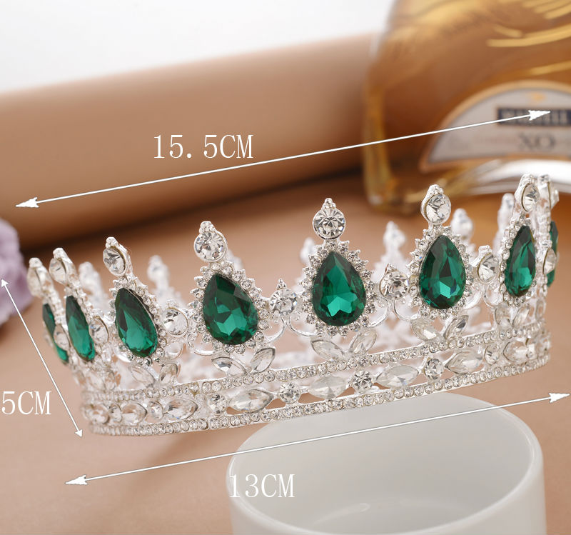 2 inch Queen Crown White Black Crystal Rhinestone Tiaras Pageant Bridal  Wedding Hair Accessories-in Hair Jewelry from Jewelry   Accessories on ... 43996f5197a4