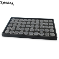 Rolabling Blac 50 Pots Nail Art Display Box For Nail Decoration Empty Showcase For Nail Rhinestone