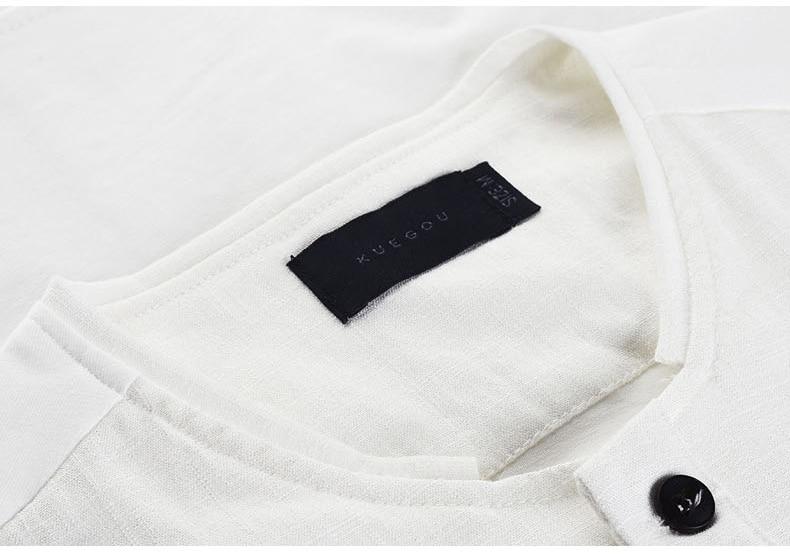 6d6be7f021e Bolsos Marca KUEGOU Verão Mens Moda Camisas Finas Preto Branco vestuário  Para Homem de Manga Curta Slim Fit Roupas Masculinas Tops 1370 em Camisas  casuais ...