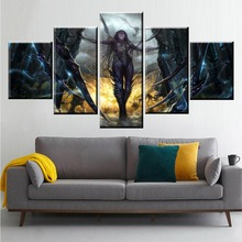 Home Decor Modular Canvas Picture 5 Piece Kerrigan Game Painting Poster Wall For Art Modern Wholesale