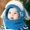 New Fashion Cute Winter Baby Hats Caps For Girls/Boys Children Knitted Hat and Scarf Set Warm Skullies & Beanies Crochet Cap
