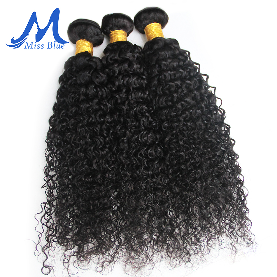 Missblue Kinky Curly Hair Bundles Brazilian Hair Weave Bundles 100% Remy Human Hair Extensions 3 4 Bundles Lots Natural Color