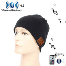 Bluetooth Misic Hat 4.2 Wireless Bluetooth Headset Hat Knitted Cap Headphone Warm Winter Hats Music Earphone Best Gift(China)