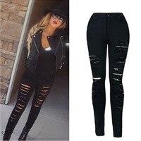 2017 Nieuwe Collectie Direct Selling Katoen Regelmatige Broadcloth Gat Mode Elastische Ripped Jeans Vrouwen Dames Broek Broek Vrouwelijke