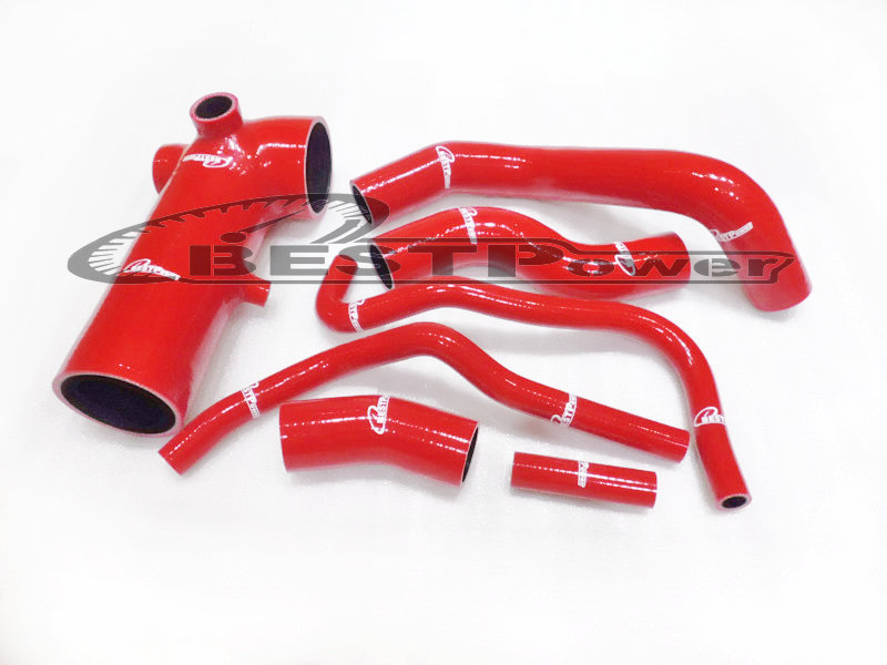 SILICONE INDUCTION COOLANT HOSE / PIPE FOR Subaru BRZ ZN6 ZC6 2013 UP red