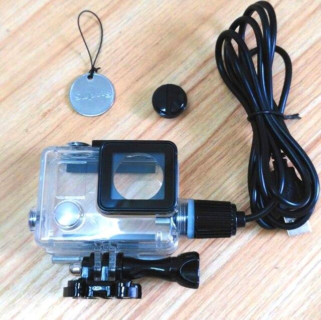 NUOVA Macchina Fotografica di Sport Accessori Chargering Custodia Impermeabile coperture Del Caricatore Custodia Con Cavo USB per Gopro Hero 4 3 + Per moto