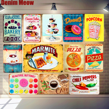 Delicious Bakery Food Painting Metal Stickers Tin Signs Cafe Kitchen Poster Vintage Plaque Decor Wall 20*30cm A898