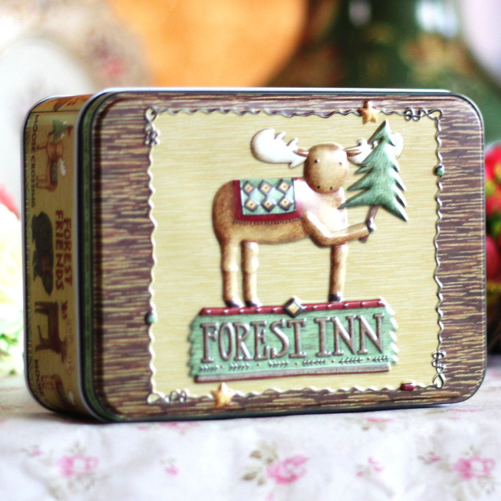 Wedding Candy Food Jewelry Storage Cartoon Tin Metal Box Home Decor  Decoration 19*13.5*7 Cm