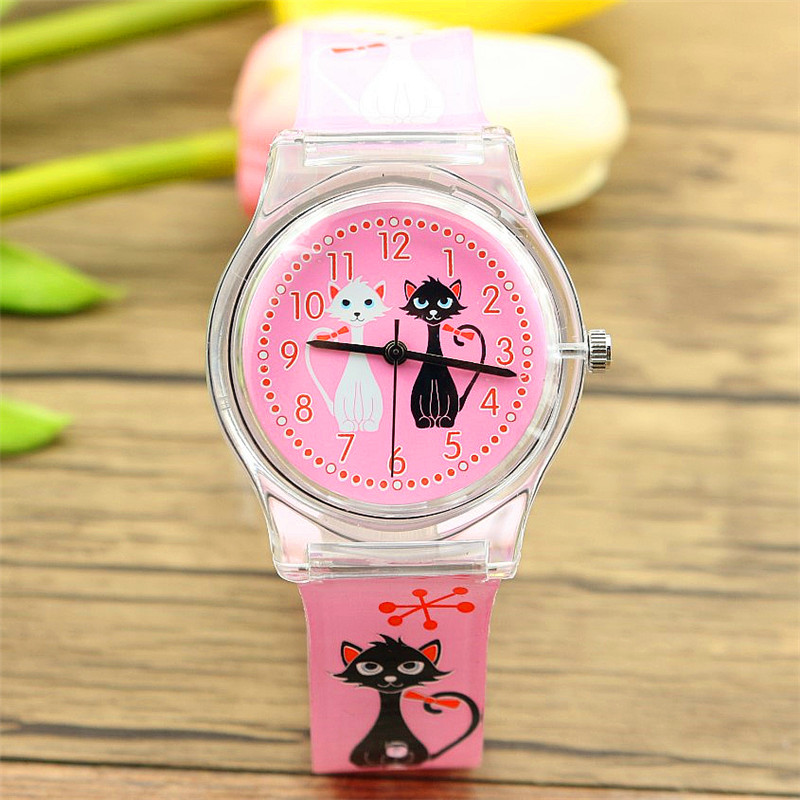 New Arrived Women Girls Lovely Cartoon Lover Cat Dial High Quality Quartz Watch Import Movement And Waterproof Students Clock
