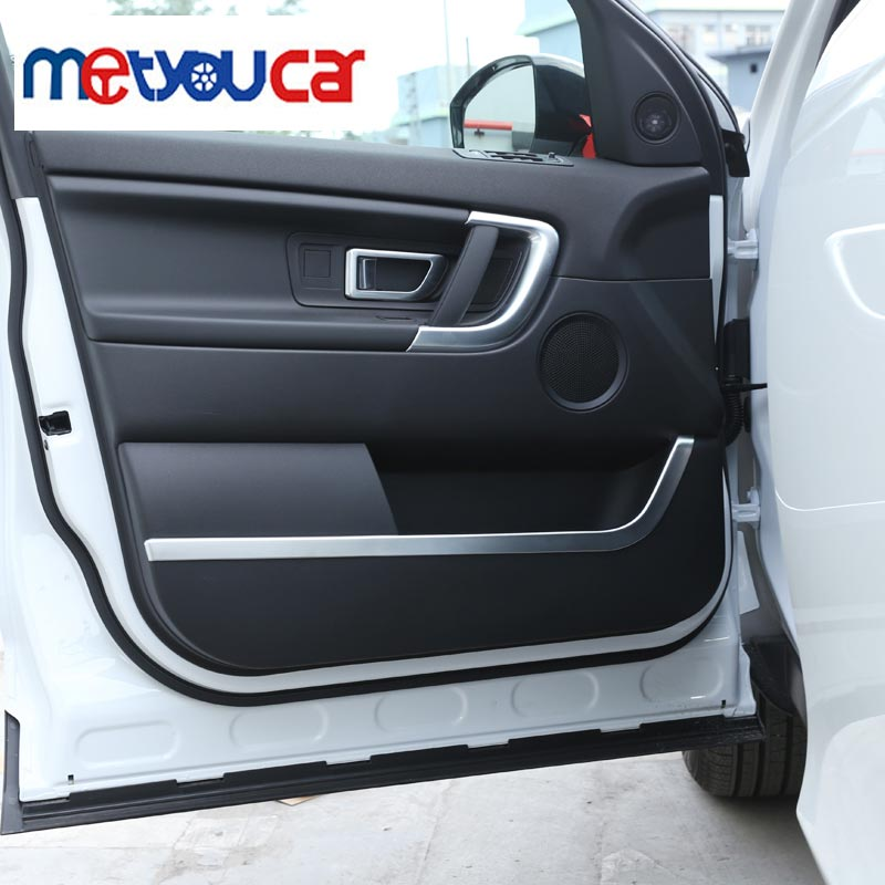 New For Land Rover Discovery Sport 2015 2016 ABS Chrome Interior Door Decorative Strip Trim Sticker Accessories Car Styling 4pcs abs matte chrome interior accessory gear shift panel trim car sticker for land rover discovery sport 2015 2016 car styling