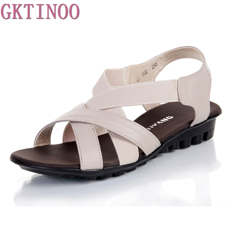 2017 new summer shoes women flats women genuine leather flat shoes sandals female casual comfortable sandals women sandals flats new women s shoes in spring and summer 2017 will be able to make comfortable and sweet flat footed women s shoes