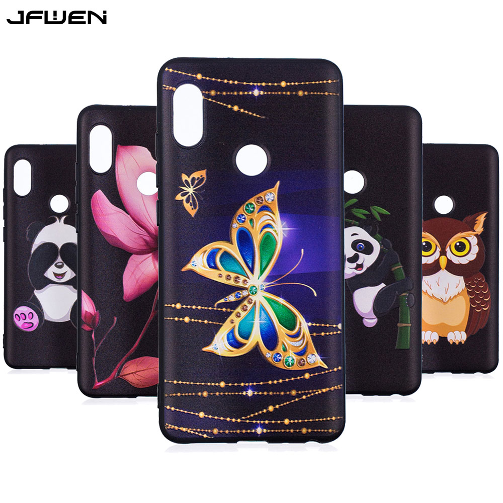 JFWEN For Coque Xiaomi Redmi Note 5 Case Silicone Cartoon Cute Butterfly Phone Cases For Xiaomi Redmi Note 5 Pro Case Cover