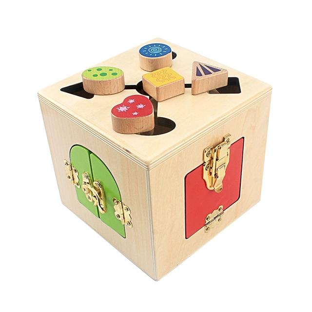 Multifunction Wooden Lock Box
