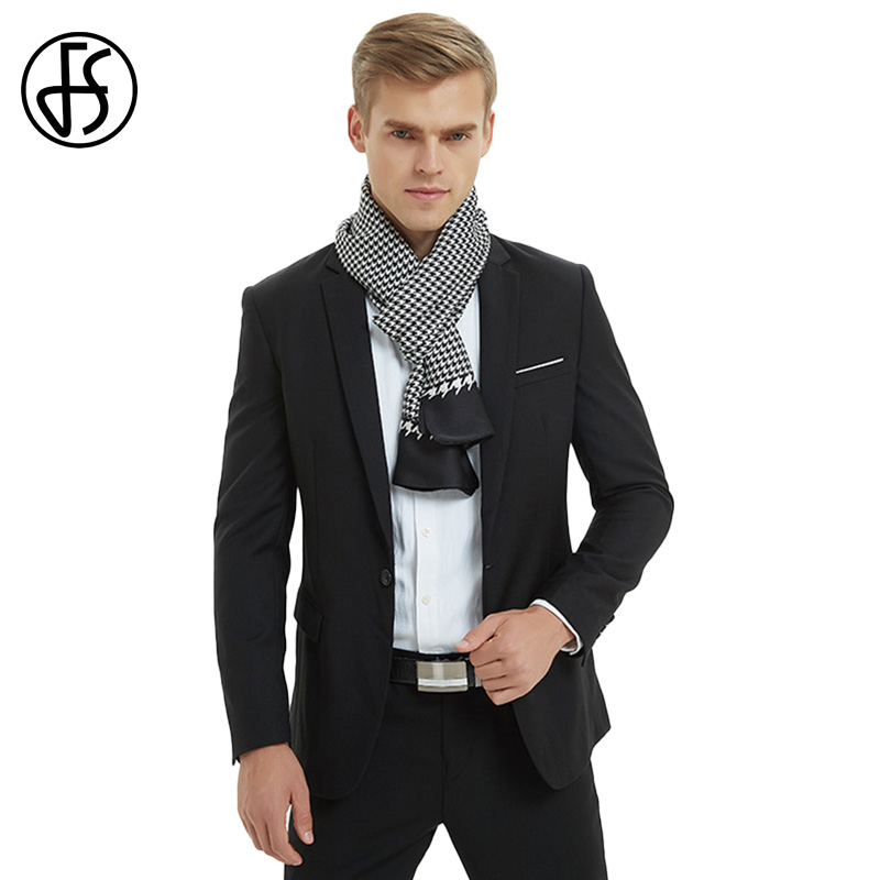 FS 2018 Houndstooth Silk   Scarf   Luxury Brand Men Designer   Scarves     Wrap   Shawl Long Pashmina Echarpe Homme Fantaisie Bufanda Hombre