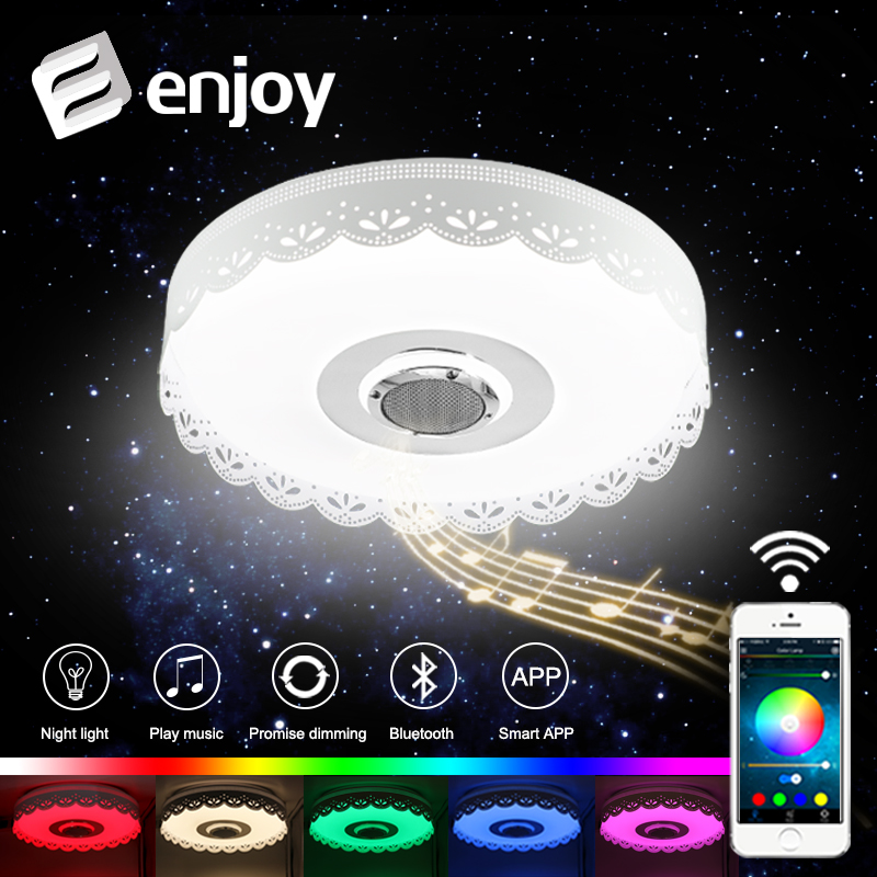 RGB Dimmable 36W LED ceiling Light with Bluetooth & Music 220V modern Led ceiling lamp for 15 -30 Square meters стоимость