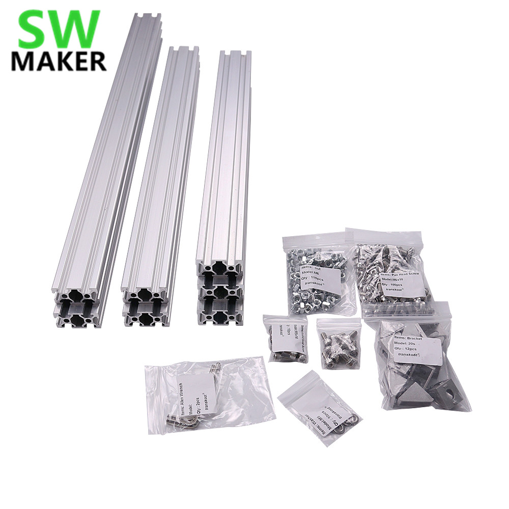 AM8 3D Printer Aluminum Metal Extrusion Profile Frame with Nuts ...
