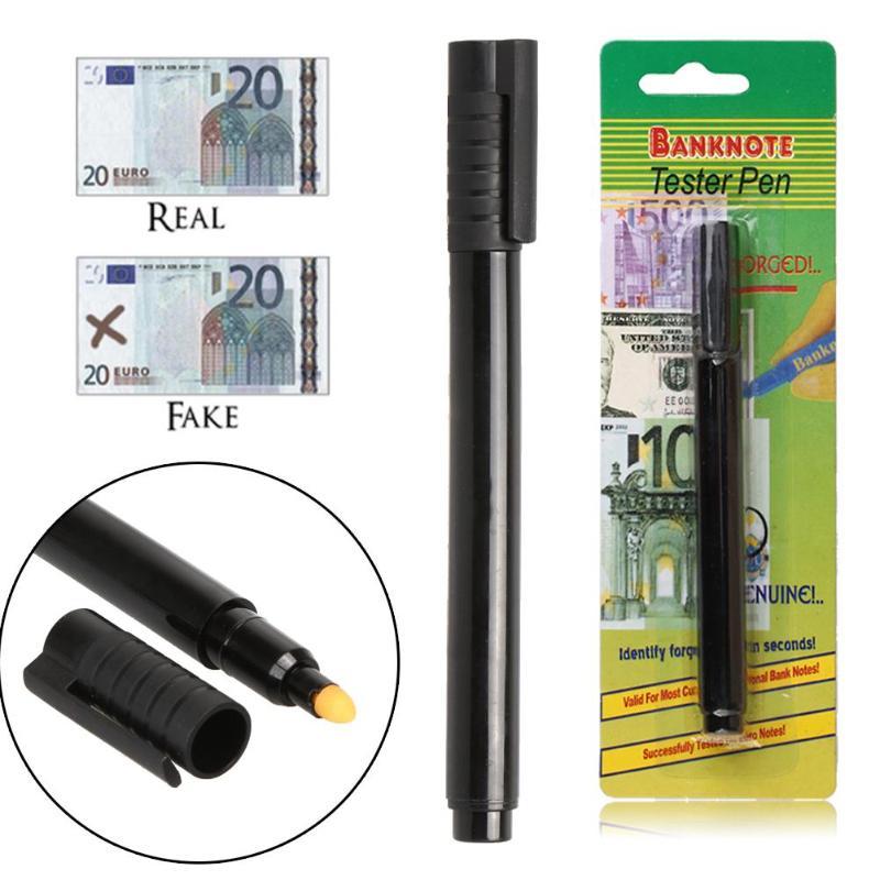 1 шт/3 шт портативная ручка стиль на водной основе проверка банкнот Детектор фальшивых денег маркер поддельные тестер банкнот ручка черный