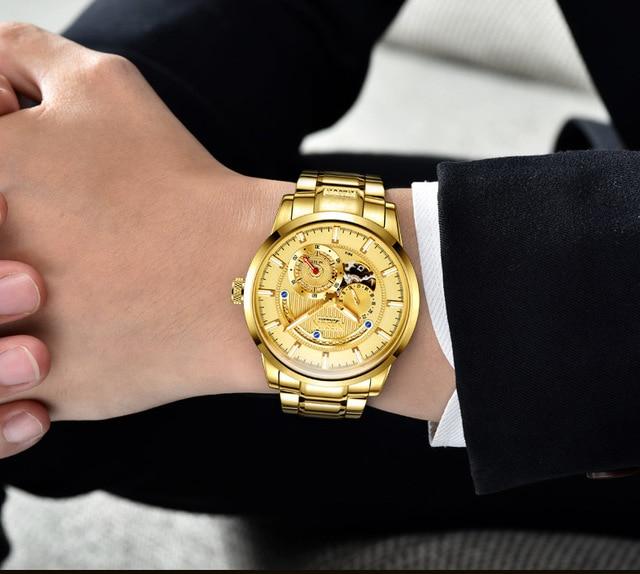 Luxury Brand NESUN Swiss Men's Watch Automatic Mechanical 3