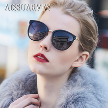 2019 Acetate Fashion Polarized Sunglasses for Women Top Quality Girls Lady Brand Designer Cats Eye Metal Mirror Luxury Glasses
