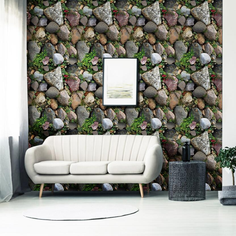 New Self-adhesive Natural Stone Wallpaper 3d Living Room Bedroom Wall Decor Wallpapers Murals diy Room Renovation Tapety W117