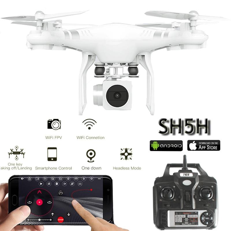SH5H Selfie Drones con cámara HD drone Quadrocopter FPV Quadcopters WIFI Cámara RC helicóptero de Control remoto juguetes para niños