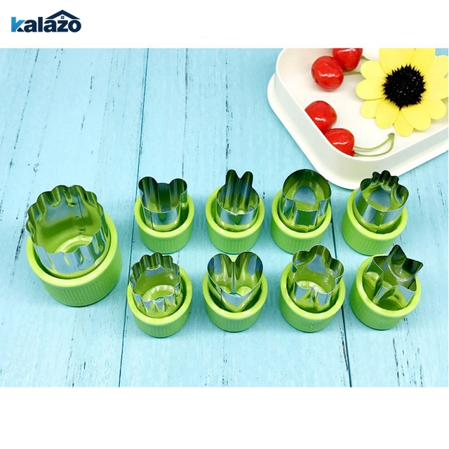 9pcs Set Fruit Vegetable Cutters Diy Italy Farfalle Paste Cutting