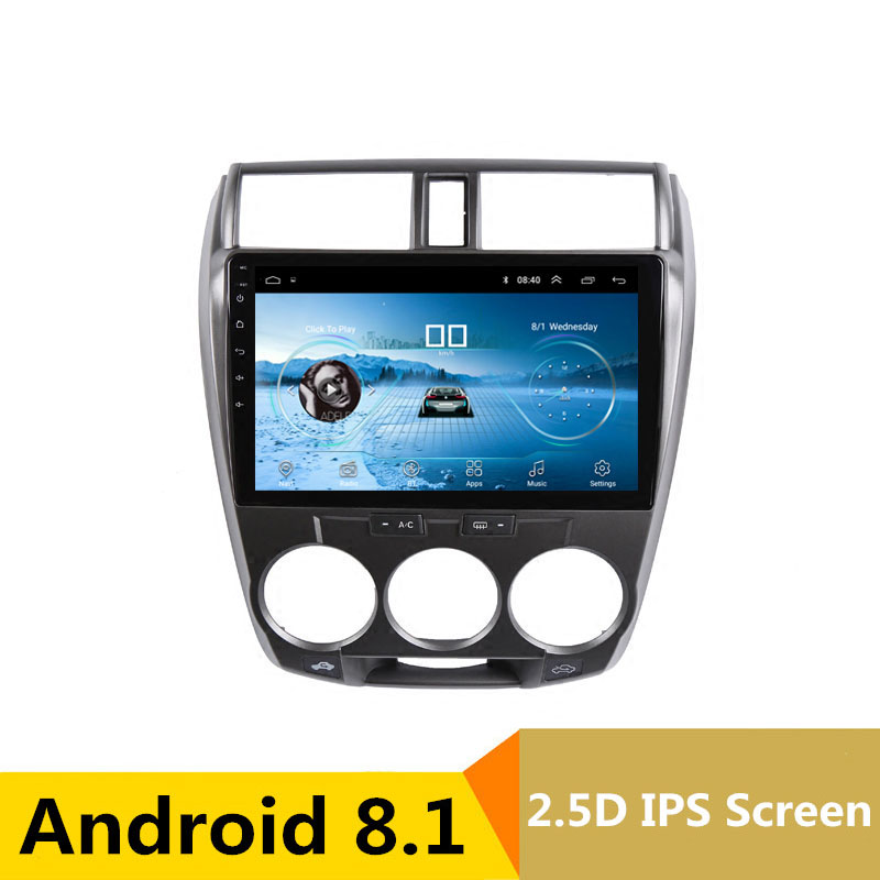102.5D IPS Android 8.1 Car DVD Multimedia Player GPS For Honda CITY 2008 2009 2010 2011 2012 2013 audio radio stereo navigation