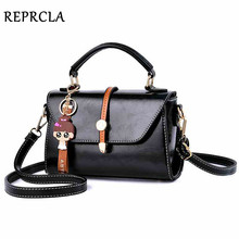 REPRCLA 2019 Fashion Handbag PU Leather Women Shoulder Bag Simple High Quality Messenger Crossbody Bags for Women Tote