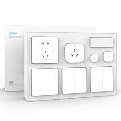 Xiaomi Mijia Aqara inteligentny zestaw wtyczek kryty główna sypialnia czujnik temperatury i wilgotności ścienne inteligentny przełącznik gniazdo inteligentny bezprzewodowy przełącznik zestaw 2