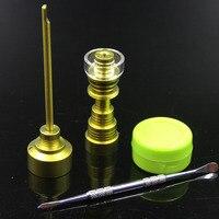 색상 석영 titanium 손톱 석영 접시 컬러 수화물 캡 실리콘 항아리 왁스 dabber 도구 오일 굴착 유리 물 담뱃