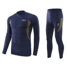 Мужской комплект нижнего белья для катания на лыжах, кальсоны, мужские комплекты термобелья, быстросохнущая Лыжная куртка и штаны для катания на лыжах/пеших прогулок/верховой езды