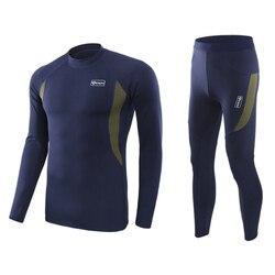 Conjunto de roupa interior de esqui longo johns masculino conjuntos de roupa interior térmica de secagem rápida jaqueta de esqui e calças para esqui/caminhadas/equitação