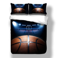 3D Basketball Bedding Set Duvet Cover With Pillowcases Single Twin Full Queen King Size 3PCS Quilt Cover basketball boys bedline