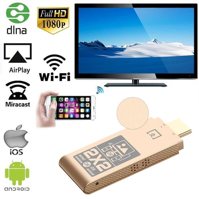 MiraScreen Wireless WiFi HDMI Display Dongle 2.4GHz TV Stick Miracast Airplay DLNA Adapter for smart phones or tablets to HDTV