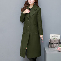 Fashion Plus Size Winter Coat Women Long Wool Blends Coats High Quality Woolen Jacket Poncho Autumn Cashmere Coats Outerwear