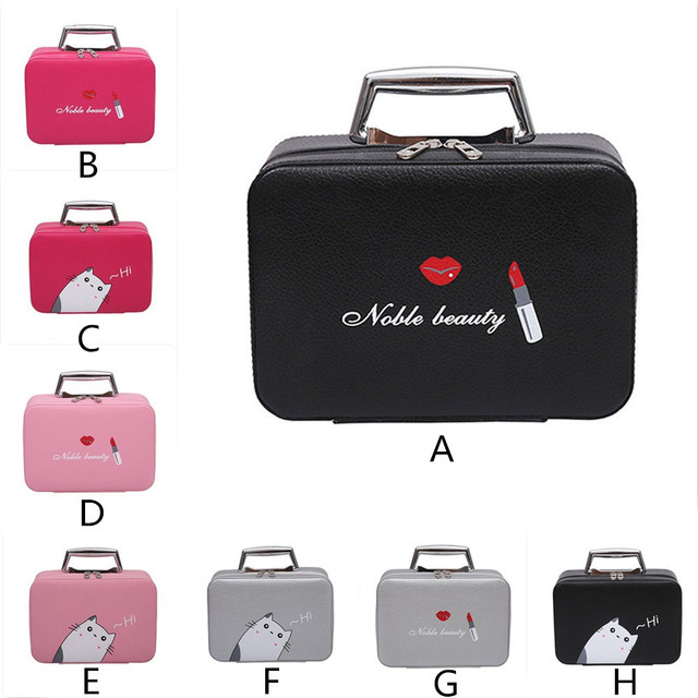 a7da6122ed65 HB Maison Fabre Portable Travel Makeup Bag Makeup Case Mini Makeup Train  Case Zipper Storage best gift for girl friend