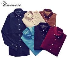 Фотография Autumn Winter Plus Size 5XL Corduroy WARM Shirt Mens Long Sleeve Gentleman Office Formale Business OL Shirt camisa masculina TOP