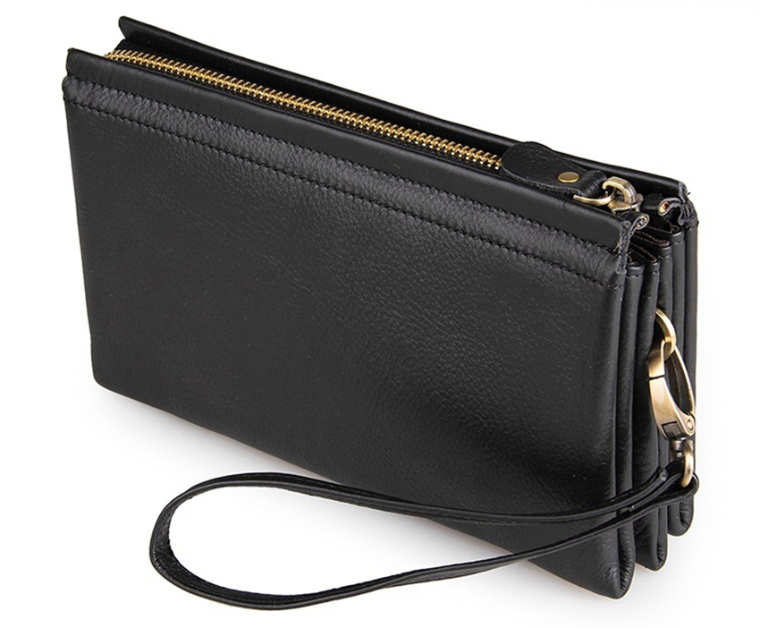 WERICHEST 2017 prawdziwej skóry męskie portfele skórzane nowy człowiek portfel na zamek błyskawiczny mężczyźni torebka moda podłużny portfel męski mężczyzny sprzęgło portfele w Portfele od Bagaże i torby na  Grupa 1