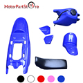 Blue Plastic Fender Parts Kit with Blue Fuel Tank and Black Seat for Yamaha PW50 PY50 PW PY 50