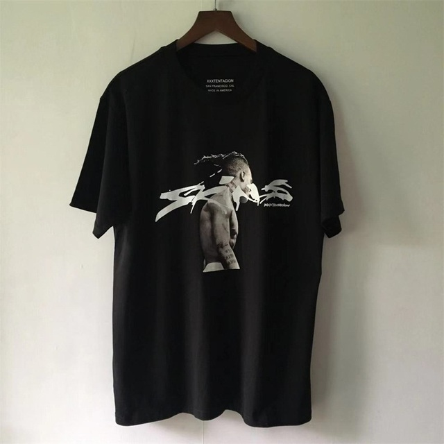d34c1b92b9fa 2019SS NEW KANYE WEST OVERSIZE XXXTentacion Men Sweat Short sleeve t shirts  hip hop japan Fashion Casual Cotton Tee TOP S-XXL