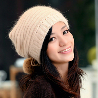 New Brand Hat Autumn And Winter Knitted Hat Female Thermal Winter Rabbit Fur Hat Knitted Windproof
