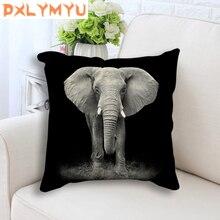 Giraffe Tiger Leopard Lion Elephant Painting Printed Throw Pillow Cushion Cover Car Decor Home Sofa Decorative Pillowcase