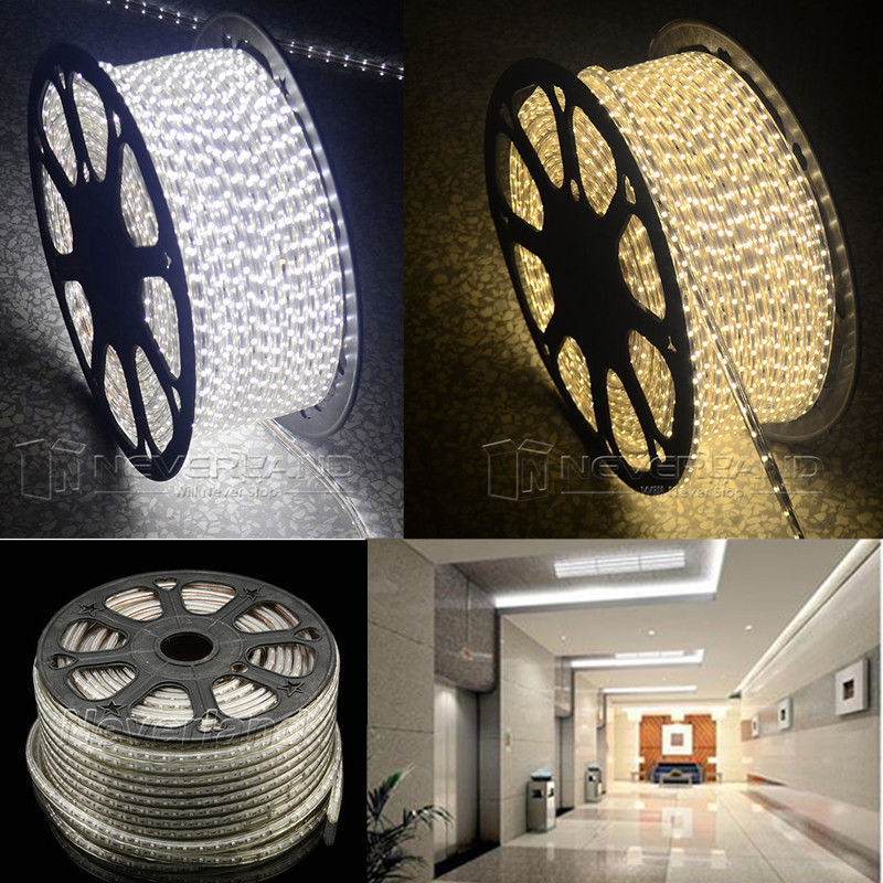 TNT FreeShip Waterproof 220V IP67 100M 60 LEDs/ meter Ultra Bright Flexible 5050 SMD LED <font><b>Outdoor</b></font> Garden Home Strip Rope Light