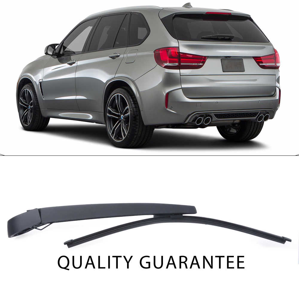 WTI New Replacement Accessories Parts Rear Windshield Wiper Arm Blade Kit Set For 2007-2013 BMW X5 X5M E70 SUV Fit 61627206357